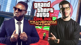 GTA 5  TRANSFORM RACES DLC w/ T-PAIN!! (GTA 5 DLC Gameplay) thumbnail