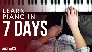7 Days To Leaŗning Piano (Beginner Lesson)