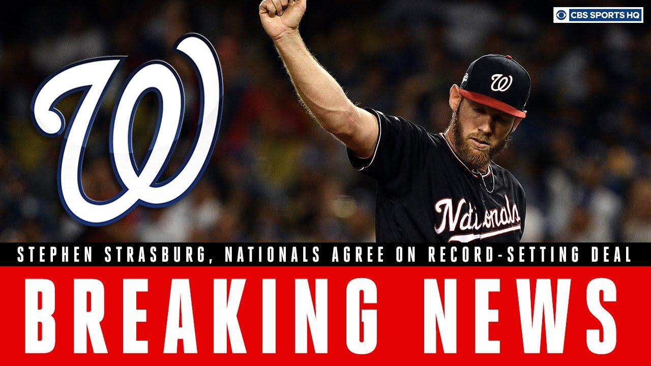 Nationals and Stephen Strasburg agree to seven-year, $245 million ...