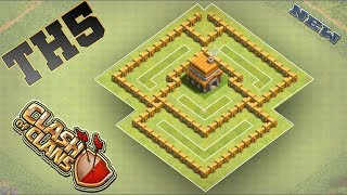 Clash Of Clans NEW Town Hall 5 (TH5) TROPHY Base Design 2018!! COC Best Th5 Trophy Base Layout