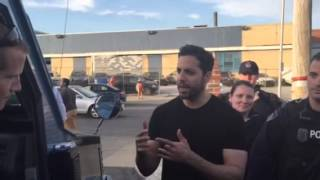 David Blaine does card tricks in Baltimore for Anne Arundel County Police 4.29.15