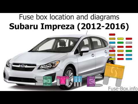 Fuse Box Location And Diagrams Subaru Impreza 2012 2016 Youtube