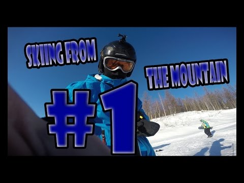 Go Pro - Skiing from the mountain    1080p (komsomolsk-on-amure)