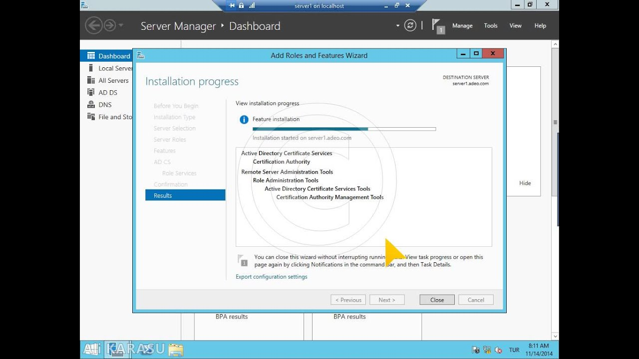 Windows Server 2012 R2 Active Directory Certificate Services Youtube