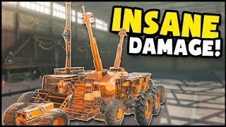 Crossout - THE MOST DAMAGE I'VE EVER DONE!? Monster Dual Arty Build (Crossout Gameplay)
