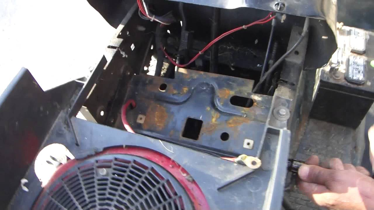 Greg Zanis Shows How To Fix Lose Steering On A Older Craftsman Automatic  Riding Lawn Mower