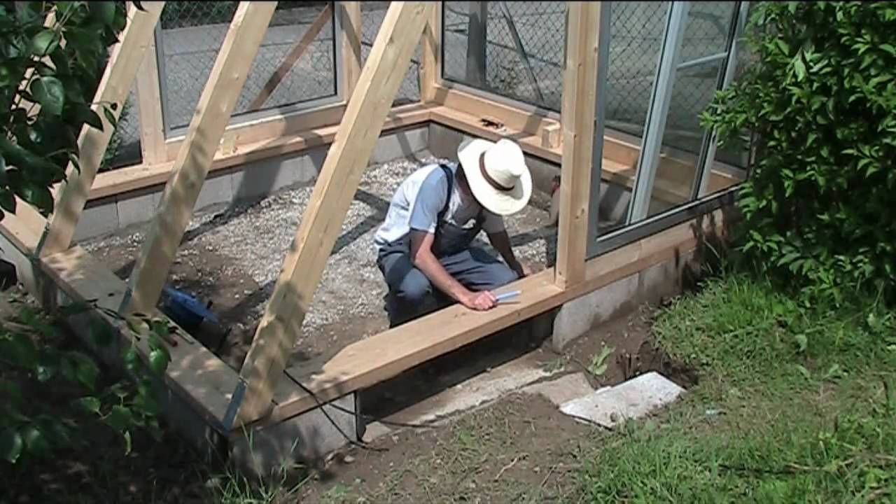 Building A Greenhouse 4 Windows And Door