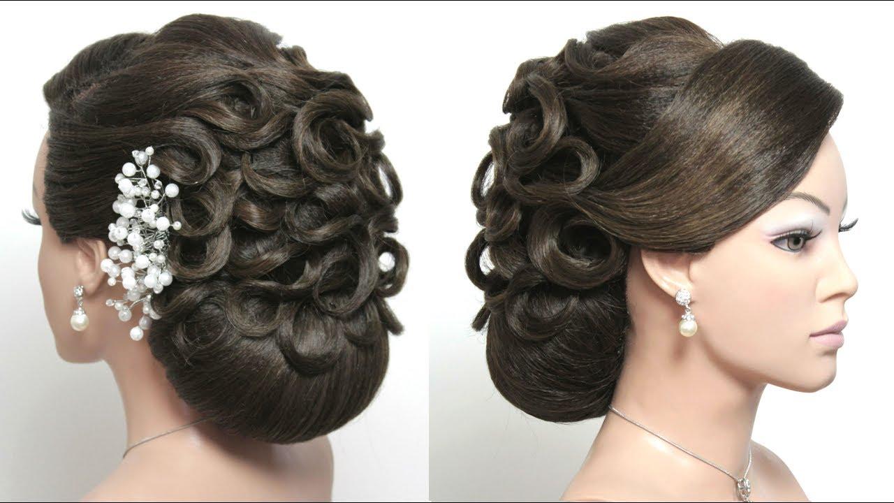 Best Wedding Bun Hairstyle For Long Hair Tutorial - YouTube