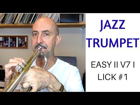 Easy ii V7 I lick #1 for trumpet