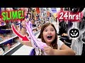 MAKING SLIME IN A HALLOWEEN STORE! ~ 24HRS OVERNIGHT CHALLENGE! skit