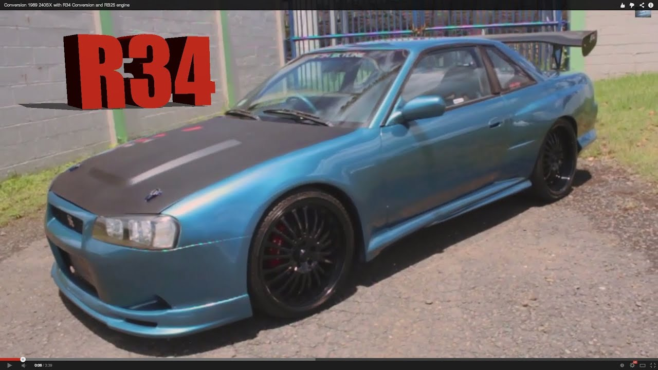 Conversion 1989 240sx With R34 Conversion And Rb25 Engine
