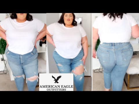 PLUS SIZE DENIM TRY ON HAUL Ft. AMERICAN EAGLE!