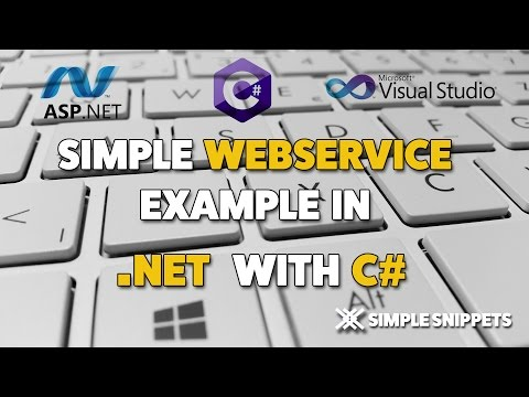 ASP.NET Web Service Example with C# Programming Language