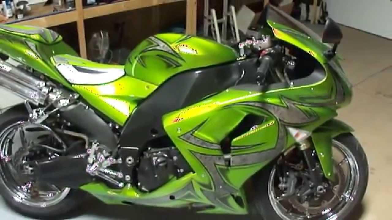 Custom Zx10 R By Garwood Custom Cycles Youtube