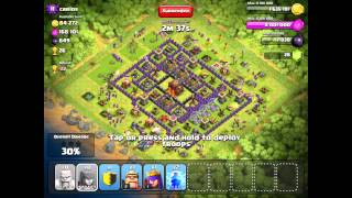Clash of Clans Trophy Challenge to 3k with T1 troops Crystal League] a2