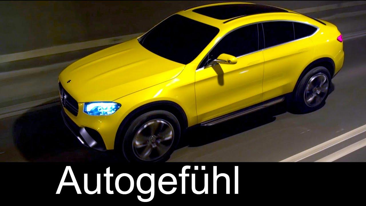 2016 mercedes glc coup concept first driving shots exterieur details autogefhl - 2016 Mercedes Glc Coupe
