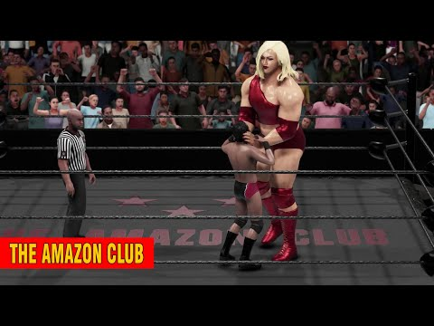 Giantess bodybuilding wrestler Amanda blaze 7ft 4in vs small male jobber Victor from India