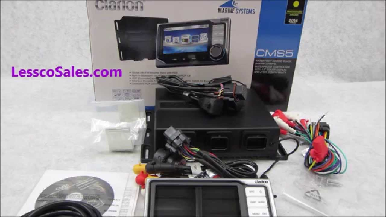 maxresdefault detailed review on the clarion cms5 marine receiver youtube clarion cms5 wiring diagram at mifinder.co