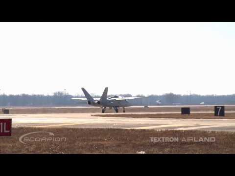 Textron AirLand Scorpion High Speed Taxi Run 12-10-13