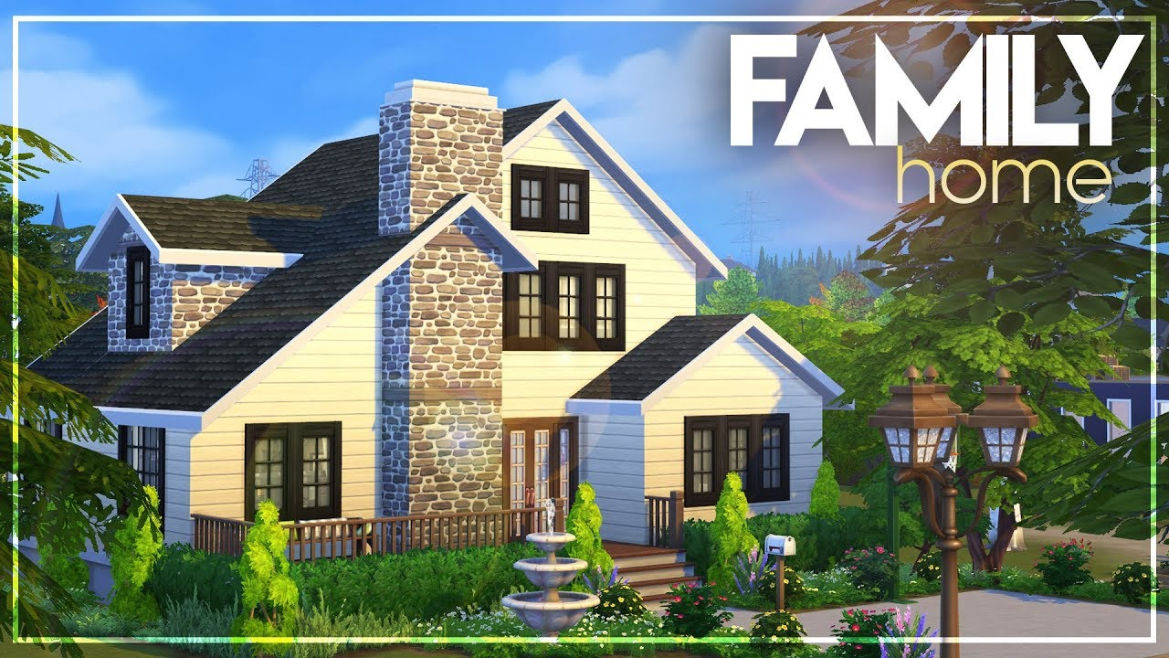 3 Bedroom 2 Bathroom Regular Family Home No Cc The Sims 4 Speed House Build Youtube