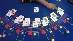 Black Jack Tisch in Aktion. Franks mobiles Casino