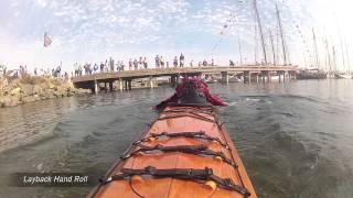 Freya Fennwood Kayak Rolling Demo Wooden Boat Festival 2012