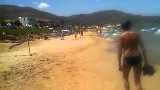 Пляжная полоса поселка Сталида,Крит.Stalida Beach,Creta(Пляж от отеля ALEXANDR BEACH до отеля ALKYONIDES., 2014-06-13T12:31:35.000Z)