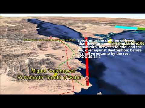 THE EXODUS ROUTE (PART 1).- Using Google Earth Pro