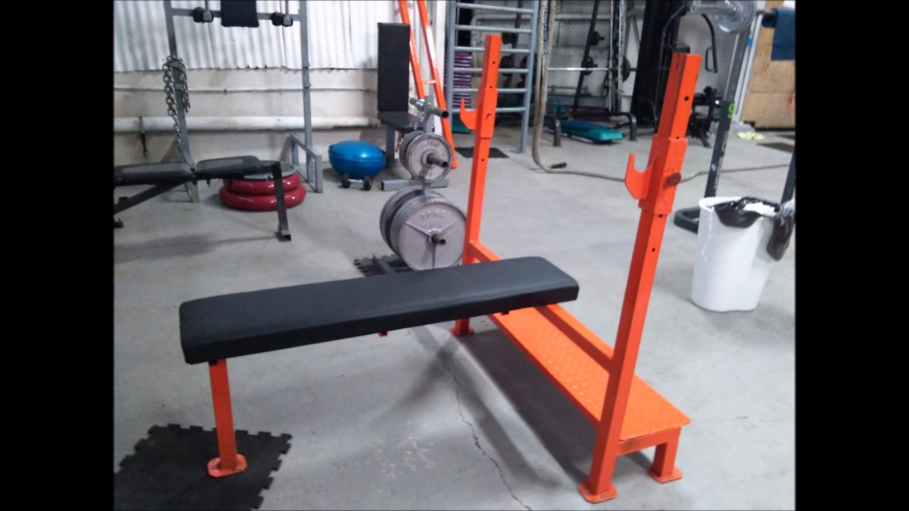 como hacer maquinas de gym press de pecho banca plana