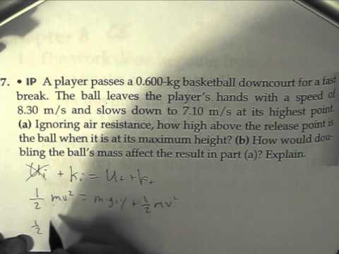 Physics Problem: Conservation Of Energy (ball's max height)