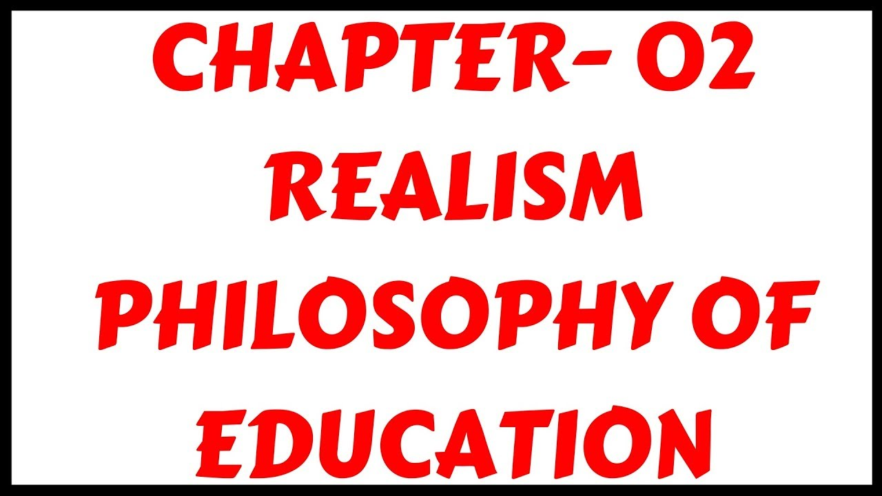 aims of education in realism