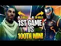 MY FIRST GAME EVER vs 100TH SOLO WIN in Fortnite: Battle Royale!