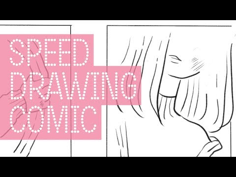 Speed drawing | How to draw a cute manga comic page in Krita