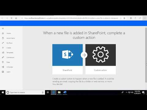 Microsoft SharePoint with flow using FabSoft's Desktop Automation Driver.