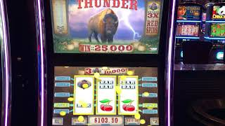 """VGT Slots """"Red Spin Thunder""""  Red Spin Wins  Choctaw Gaming Casino, Durant, OK. First Attempt"""