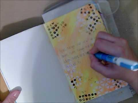 Lyrics Art Journal Process Video : Smile