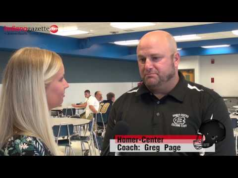 2017 Heritage Conference / WESTPAC Media Day with Homer-Center Coach Greg Page