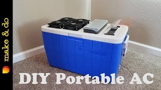 Homemade Portable Air Conditioner DIY - Easy Build - USB powered using solar, battery, or laptop.