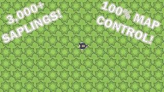 Moomoo.io Map Control: 100% Map Coverage (World Record! 3,000+ Saplings)