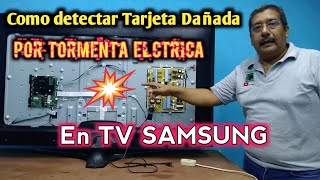 "TV SAMSUNG 65"" Dañada por Tormenta Electrica"