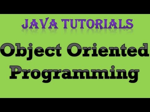 OOPs Object Oriented Programming Java Tutorial