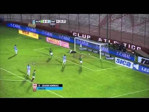 Gol de Domínguez. Huracán 1 - Rafaela 0. Fecha 14. Primera División 2015. FPT.