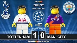 Tottenham vs Manchester City 1-0 • Champions League 2019 (09/04) All Goals Highlights Lego Football