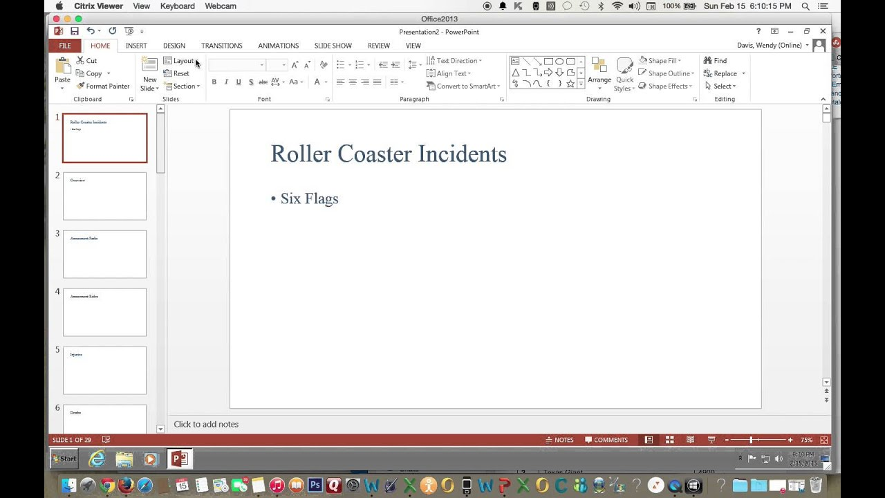 how to change the page layout in powerpoint 2013