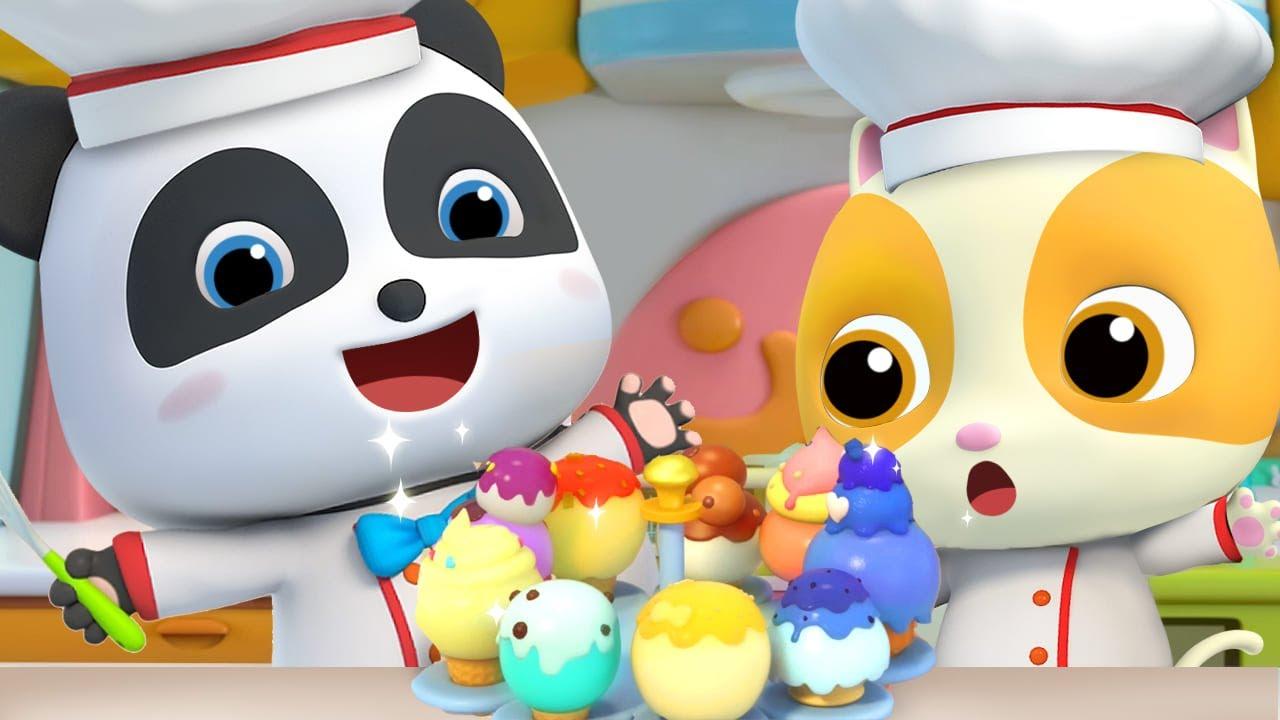 たべもの☆アイスクリームはいかがですか☆子供向け知育動画 | 赤ちゃんが喜ぶ歌 | 子供の歌 | 童謡 | アニメ | 動画 | ベビーバス| BabyBus