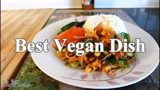 How To Make Best Vegan Dish With  Mushroom Stir Fri Vegetable & Coconut Rice !!