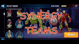 TOP 5 Marvel Strike Force Synergy Teams!!! MUST WATCH!
