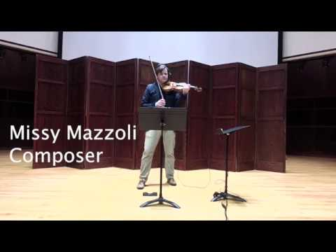 Tooth and Nail; Missy Mazzoli, Composer; Robert Simonds, Violin