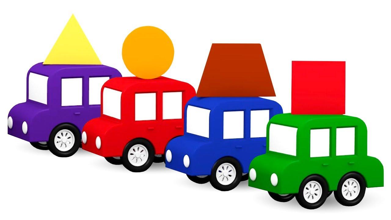 dessin anim ducatif de 4 voitures color es apprenons les formes youtube. Black Bedroom Furniture Sets. Home Design Ideas