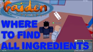 ROBLOX Gaiden OA - Ingredients Location (Ramen Hunt)